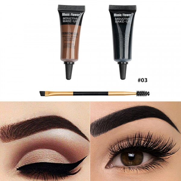 Poze Kit sprancene 2 in 1 + pensula & perie sprancene Happy Brow #03