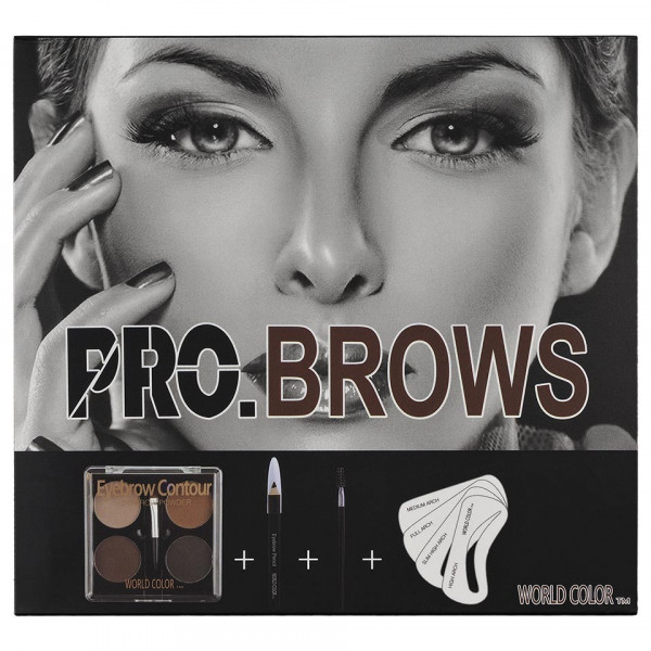 Poze Kit Sprancene Easy Brow - Fard Sprancene, Sabloane, Pensule, Creion Contur