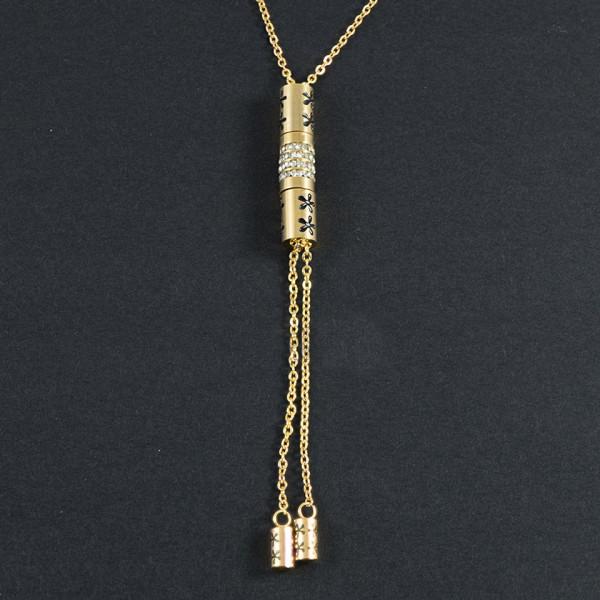 Poze Lantisor Inox cu Medalion - Stylish Girl