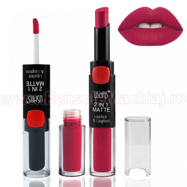 Lipstick & Lipgloss 2 in 1 MATTE #12 - RosePetal