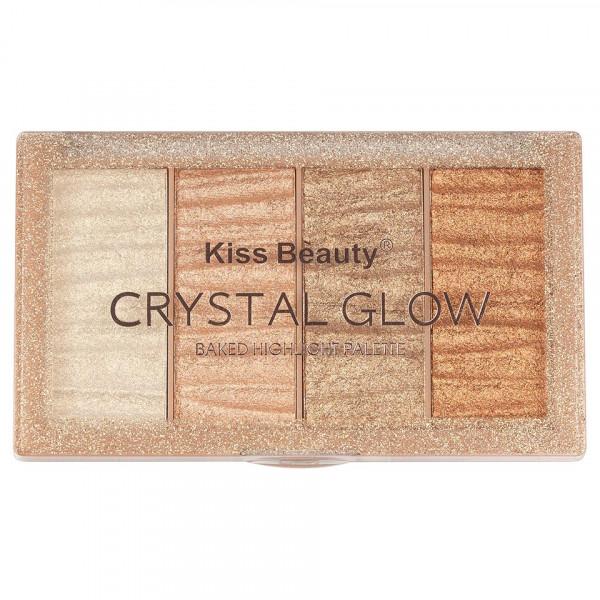 Poze Paleta Iluminator & Contur Kiss Beauty Crystal Glow #01
