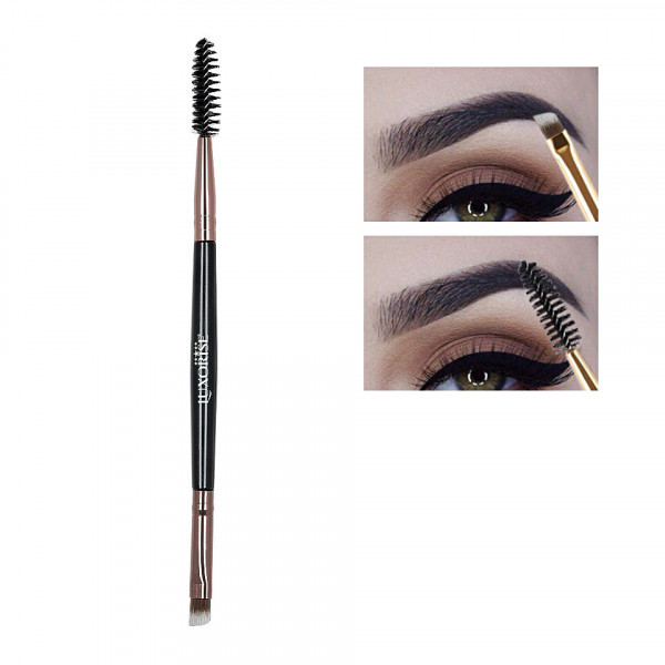 Poze Pensula Sprancene LUXORISE Duo Eyebrow Brush