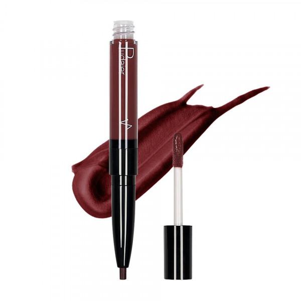 Poze Ruj lichid mat 2 in 1 cu creion de buze Pudaier KissME #09