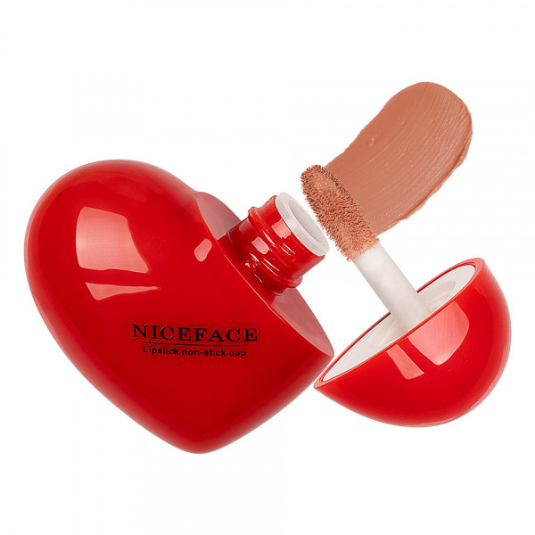 Poze Ruj Lichid Mat Niceface Heart to Lips #01