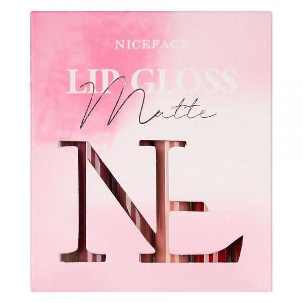 Poze Set 5 Rujuri Mate Lichide + 1 Lip Gloss NICEFACE