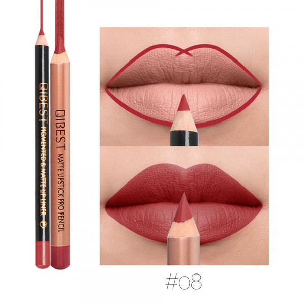 Poze Set contur buze si ruj creion Qibest Sweeter #08