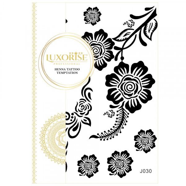 Poze Tatuaj Temporar LUXORISE Henna Temptation Black Roses J030