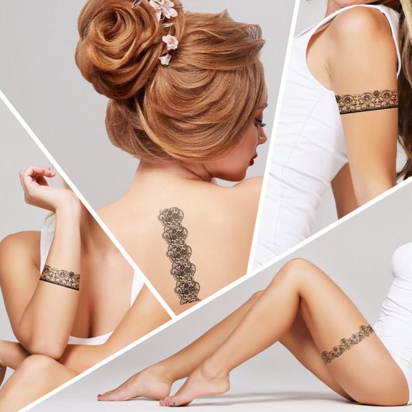 Poze Tatuaj Temporar LUXORISE Henna Temptation Girly Girl J037