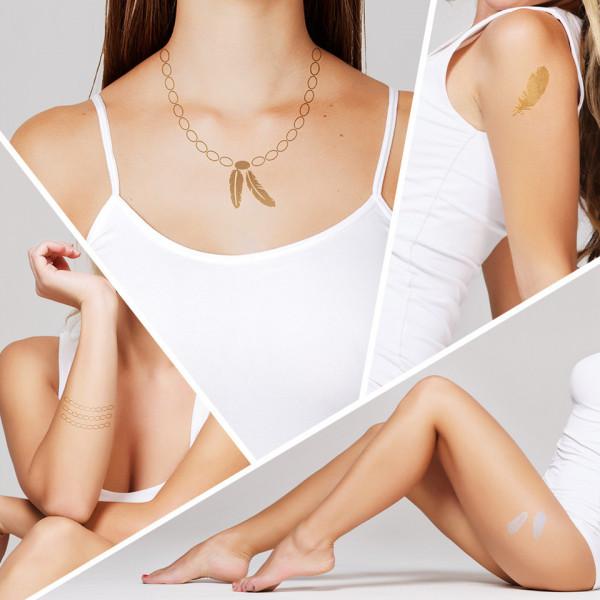 Poze Tatuaj Temporar LUXORISE Henna Temptation Gold Edition E023