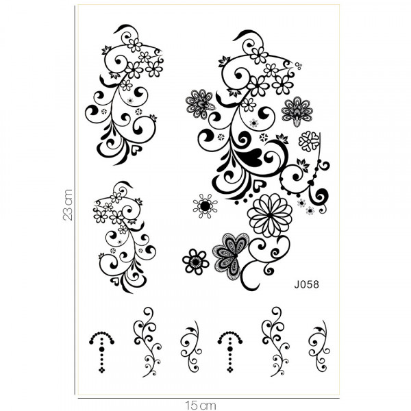 Poze Tatuaj Temporar LUXORISE Henna Temptation Gold Edition J058