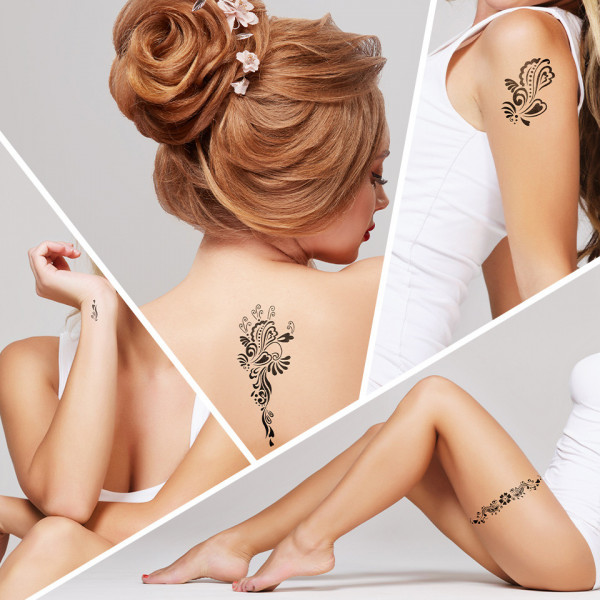 Poze Tatuaj Temporar LUXORISE Henna Temptation Ocean Waves J026