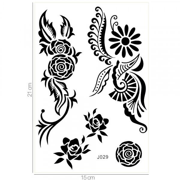 Poze Tatuaj Temporar LUXORISE Henna Temptation Tribal Rose J029