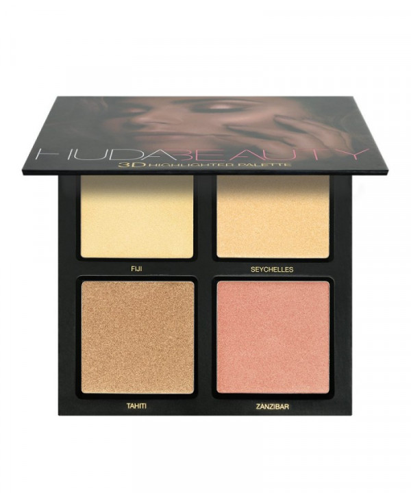 Poze Trusa Iluminator si Bronzer Golden Sands - 3D Highlighter Palette