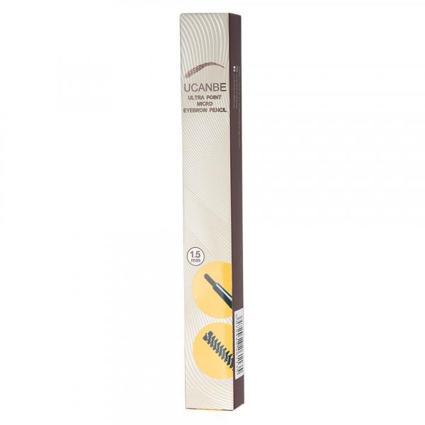 Poze Creion Sprancene Retractabil 2 in 1 cu perie, UCANBE #02 Warm Coffee