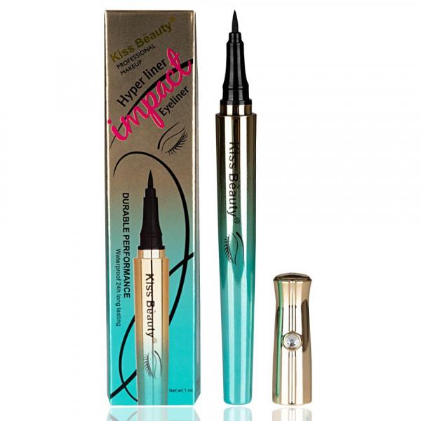 Poze Eyeliner lichid Kiss Beauty Impact Hyper liner