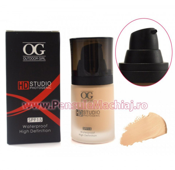 Poze Fond de Ten cu SPF 15 High Definition Waterproof 30 ml - #06 ten mediu