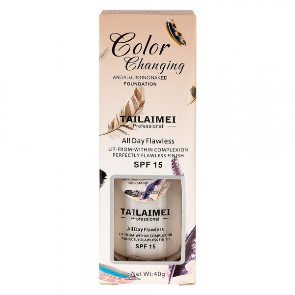Poze Fond de Ten TLM Color Changing Velvet Touch SPF15, 40 ml