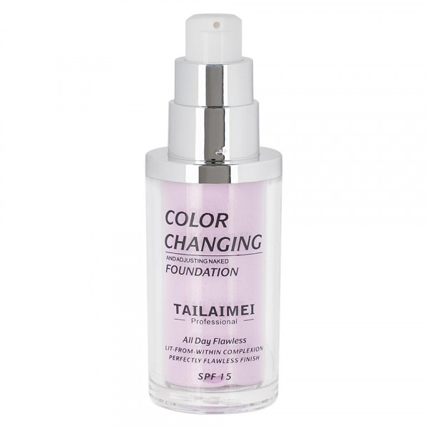 Poze Fond de Ten TLM Waterproof Color Changing SPF 15, Violet 40ml