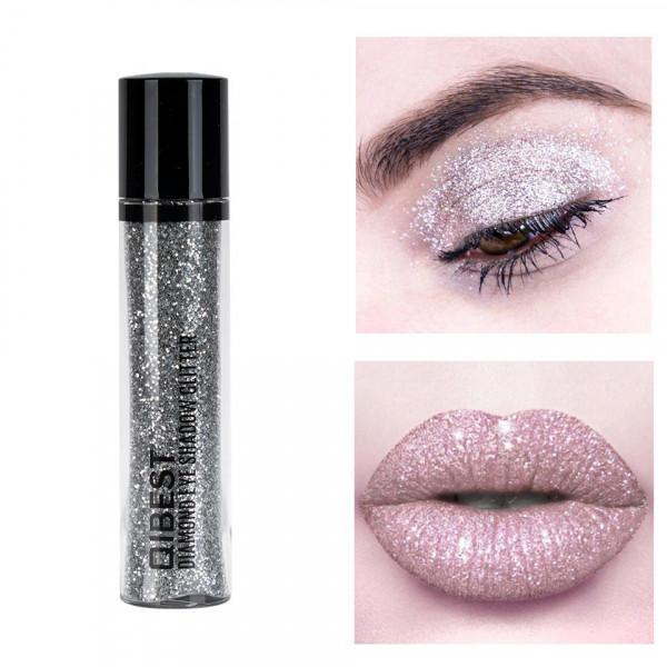 Poze Glitter Pulbere Ochi si Buze Diamond Glitter #04 Silver Queen