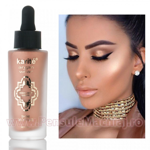 Poze Iluminator/Highlighter Lichid Argan Oil Nude Aura