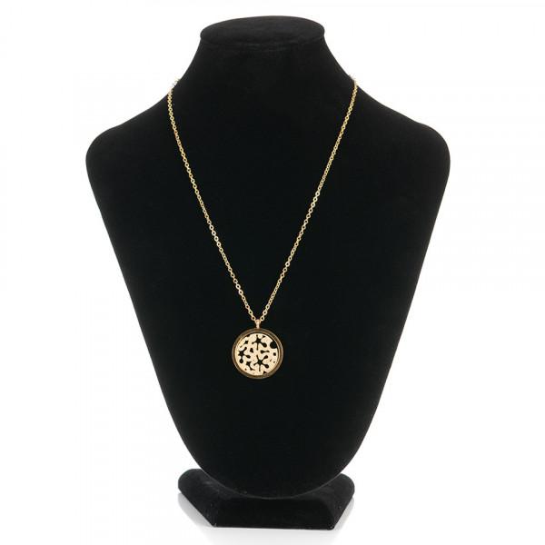 Poze Lantisor Inox cu Medalion - Love for Gold