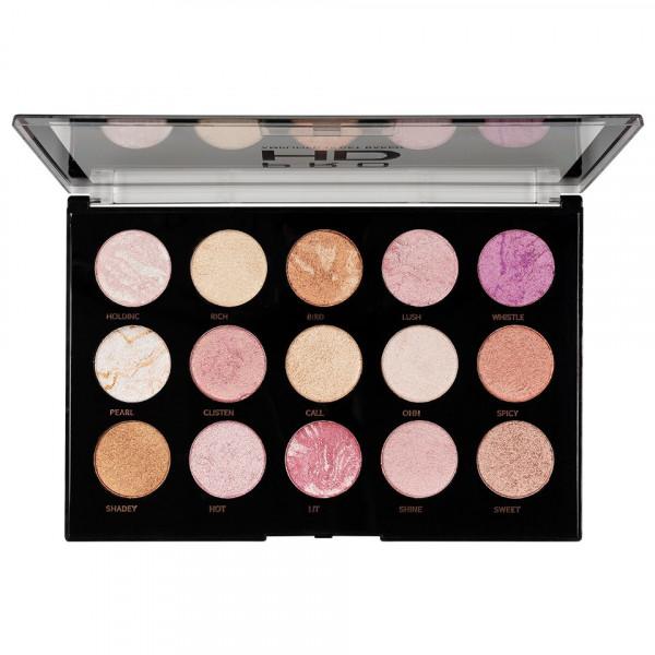 Poze Paleta MakeUp Revolution HD Amplified Get Baked 15 culori