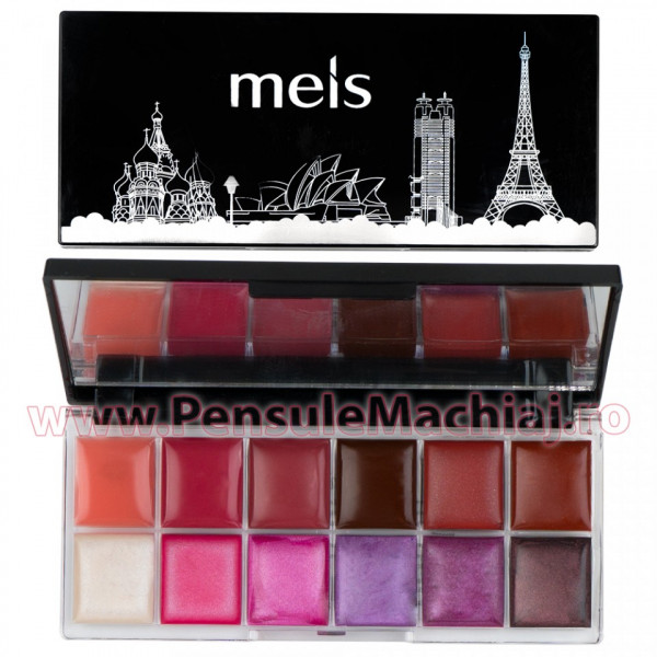 Poze Paleta Ruj si Eyeshadow 12 culori #03 Purple Touch