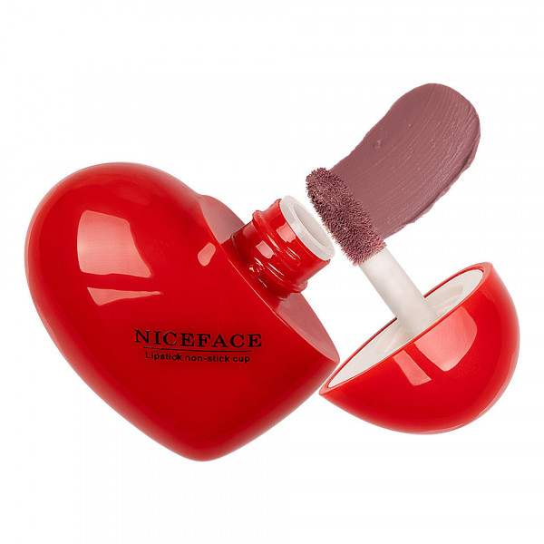Poze Ruj Lichid Mat Niceface Heart to Lips #02