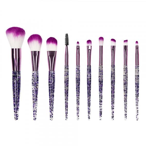 Poze Set 10 pensule machiaj Dare to Glow - Purple