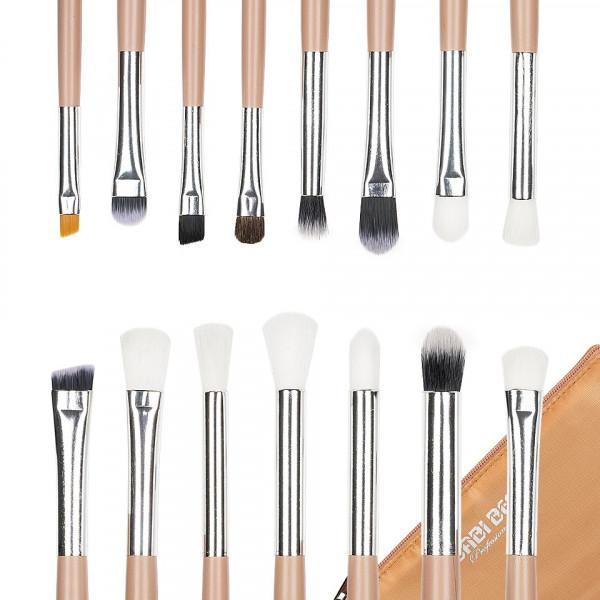 Poze Set 15 pensule machiaj Precise Makeup, Nude + Borseta Cadou