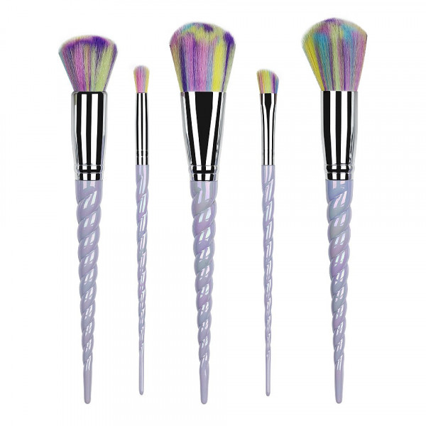 Poze Set 5 pensule machiaj Unicorn Wild Blue Limited Edition