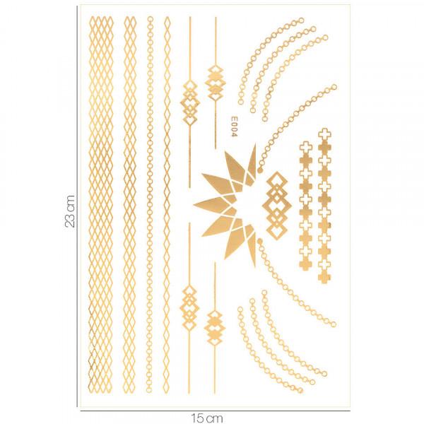 Poze Tatuaj Temporar LUXORISE Henna Temptation Gold Edition E004