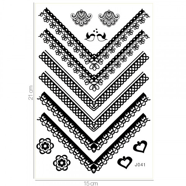 Poze Tatuaj Temporar LUXORISE Henna Temptation Love Birds J041