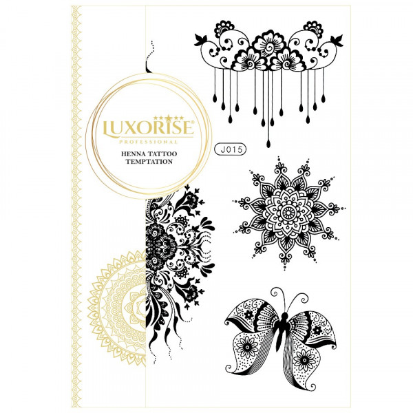 Poze Tatuaj Temporar LUXORISE Henna Temptation Petal Wings J015
