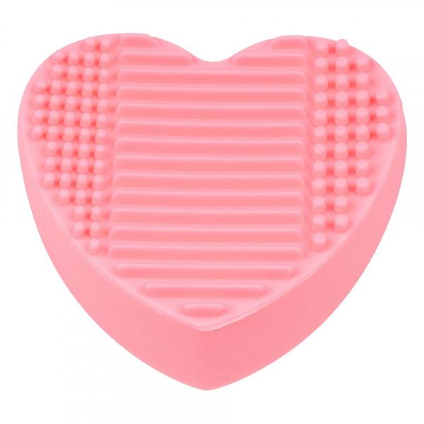 Poze Accesoriu Silicon Curatare si Suport Pensule Machiaj Pastel Heart