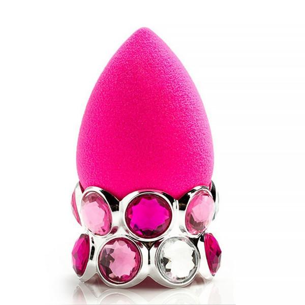Poze Burete Machiaj Beauty Blender cu Suport Strasuri Bling Ring