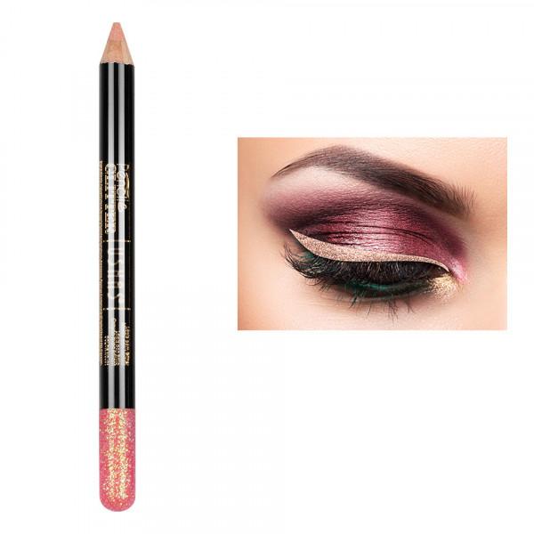 Poze Creion Colorat Contur Ochi cu Sclipici, Ushas Glittery Pink #03