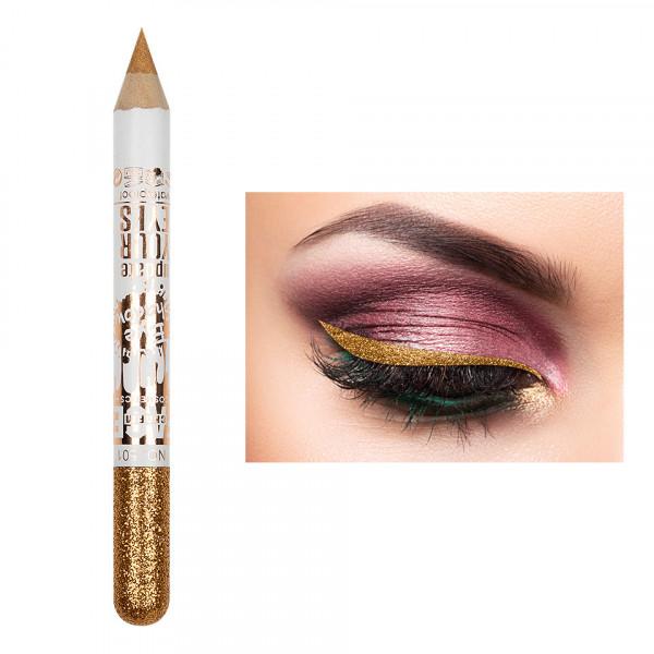 Poze Creion Contur Ochi Colorat cu Sclipici, Waterproof #501