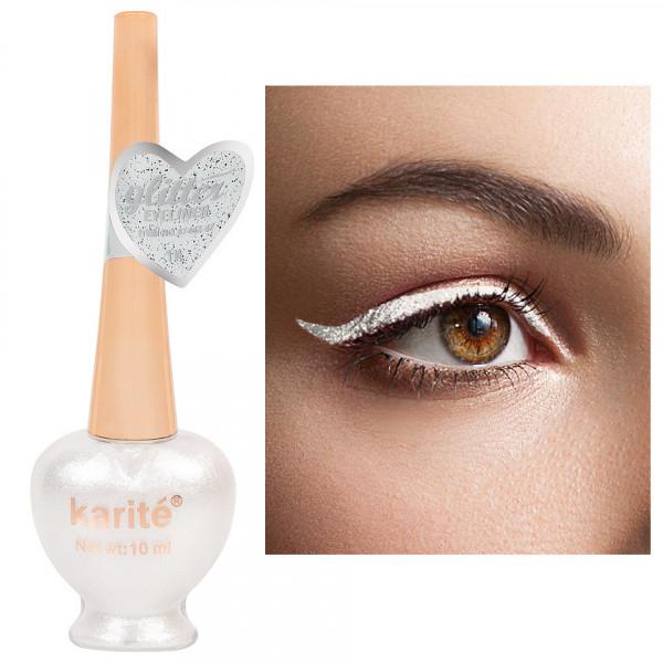 Poze Eyeliner Colorat Karite #01 Shimmer White