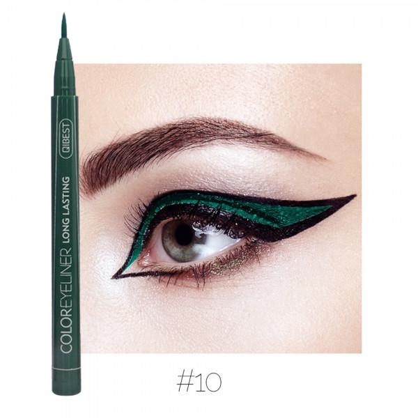 Poze Eyeliner colorat Qibest Waterproof, Smarald #10