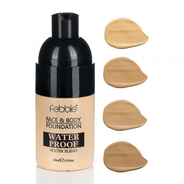 Poze Fond de Ten Febble Face & Body WaterProof, 4 nuante, 30 ml