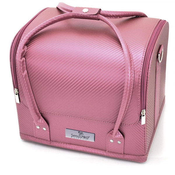Poze Geanta Produse Cosmetice SensoPRO Milano, Light Pink Pattern