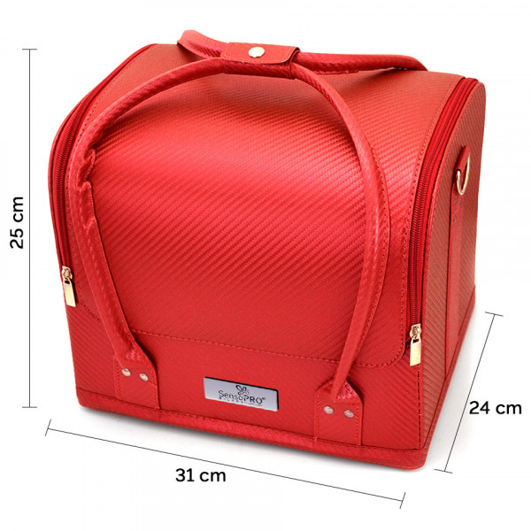 Poze Geanta Produse Cosmetice SensoPRO Milano, Red Pattern