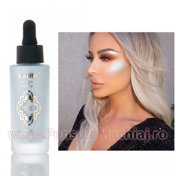 Poze Iluminator/Highlighter Lichid Argan Oil Blue Aura