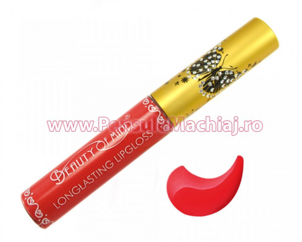 Poze Lip Gloss rezistent la transfer mat Beauty of Mind #05 - Jolly Red