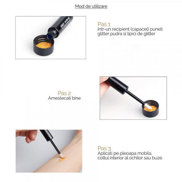 Poze Lipici - Adeziv pentru Glitter, Qibest Sunshine