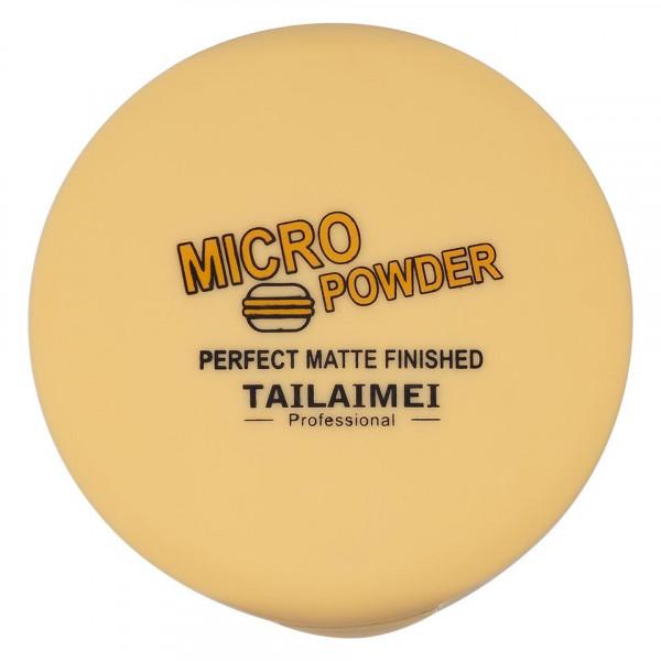 Poze Pudra Compacta Fixare Machiaj 5 in 1 TLM Micro Powder Yellow