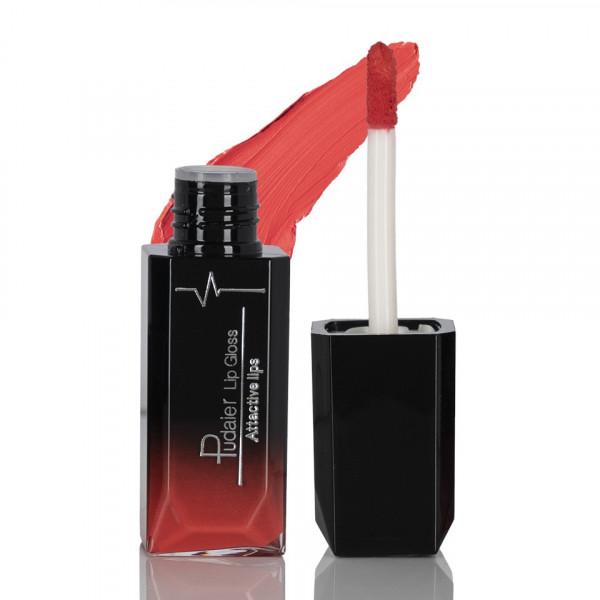 Poze Ruj lichid mat Pudaier Attractive Lips -Hypnotic Red #12
