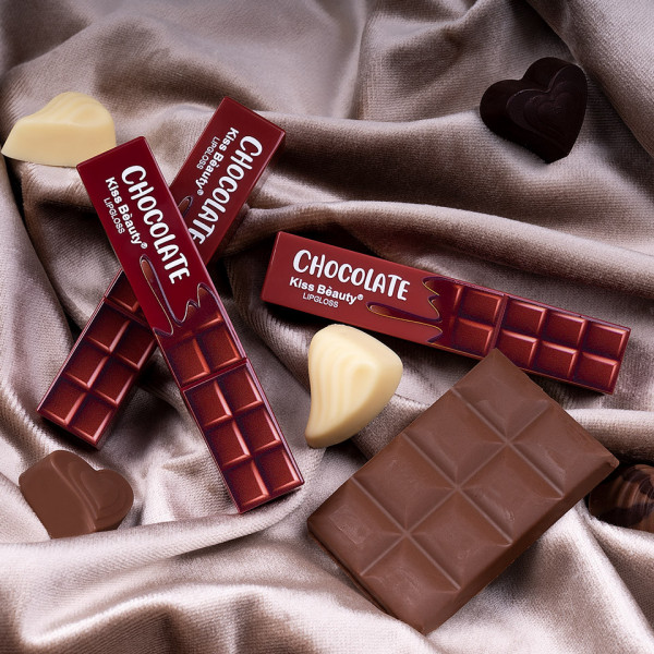 Poze Set 3 Rujuri Lichide Mate Chocolate Kiss Beauty Velvet Lipgloss #02