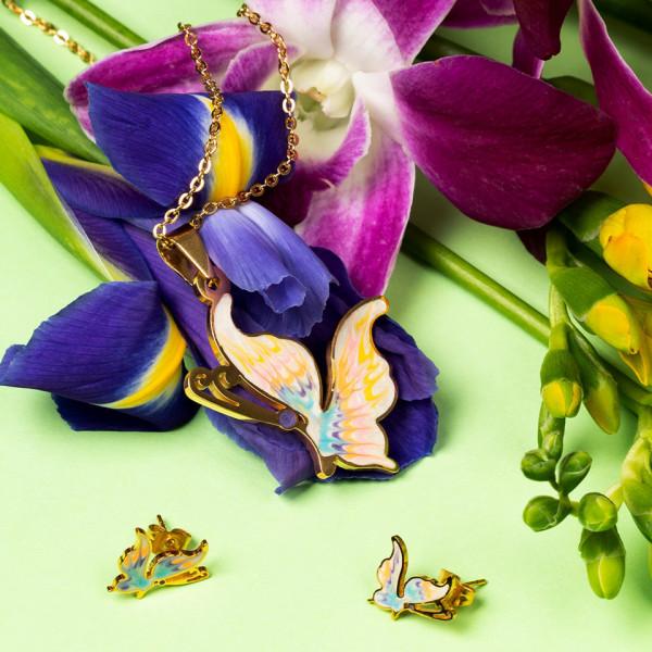 Poze Set Bijuterii Inox Happy Butterflies